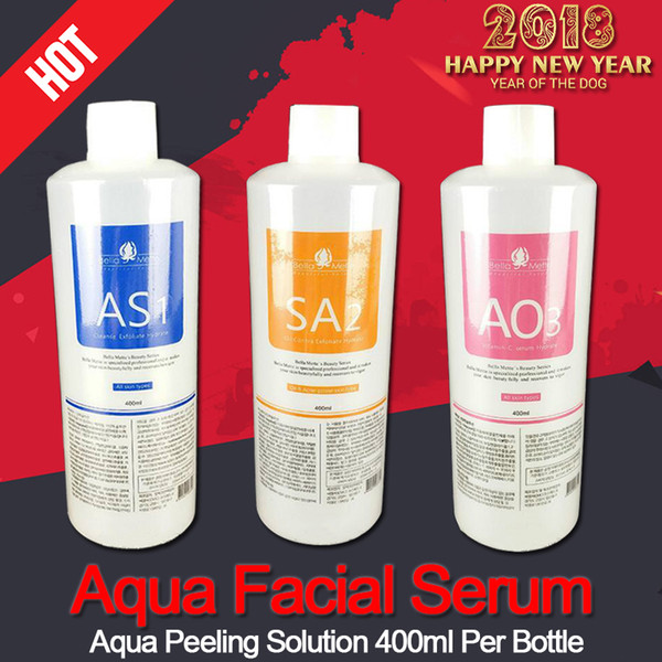 Profe ional hydrafacial machine u e aqua peeling olution 400 ml per bottle aqua facial erum hydra facial erum for normal kin ce dhl