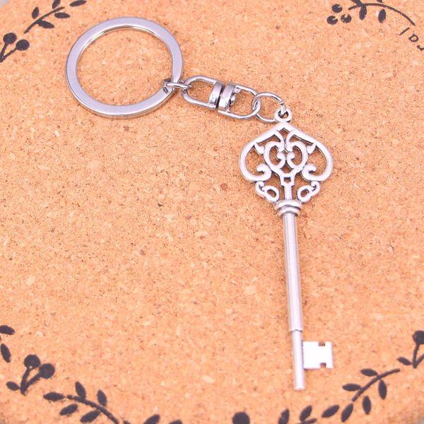 Nouveau Mode Porte-clés 69mm vintage squelette clé Pendentifs DIY Hommes Bijoux De Voiture Porte-clés Porte-Anneaux Souvenir Pour Cadeau