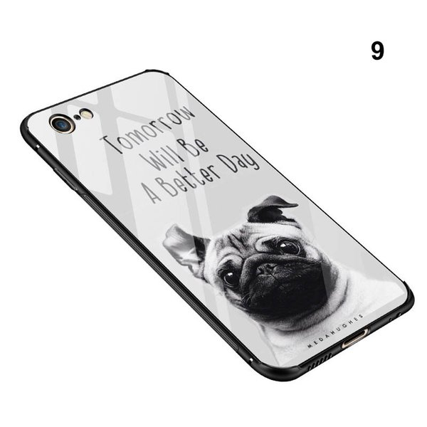 Cartoon Super Marios Bros 9H Tempered Glass Phone Cases For Iphone X PC+TPU Game Back Phone Cover For Iphone 6 6s 7 8 Plus CellPhone Case