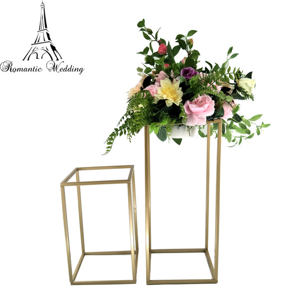 New Style Wedding Metal Gold Color Flower Vase Column Stand for Party Decoration Wedding Centerpiece Decoration 10pcs A Set