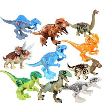 Juego de juguetes de dinosaurio Bloques de construcción de plástico para niños Dinosaurio Figuras de acción en miniatura Modelo de dinosaurio Juguetes Novedad Niños Bloque de regalo YFA629