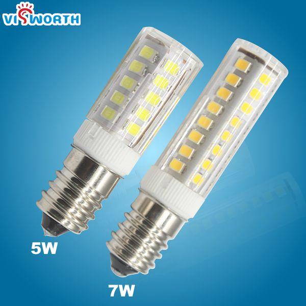 5 Watt 7 Watt Led Mais Glühbirne 360 Grad E14 Led Spotlight SMD2835 Led Lampe Mini Transparent Körper Kristall Kronleuchter Anhänger Kühlschrank Licht