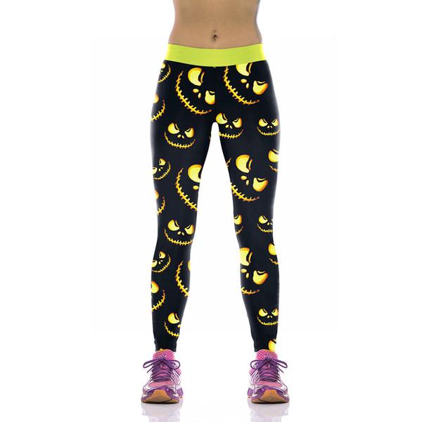 Womens Printed Halloween Leggings The Nightmare Before Christmas Cosplay Leggin Jack and Sally Slim Design Workout Girls Pants