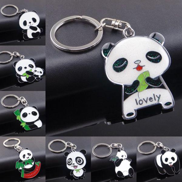 En gros 8 styles national trésor panda sur le thème pendentif porte-clés panda porte-clés bande dessinée créative soutien porte-clés FBA Drop Shipping G662Q
