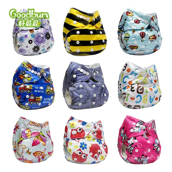 top popular Baby Cloth Diapers Reusable Washable Diaper Cover Super Quality Wholesale Diapers Baby Nappy 2021