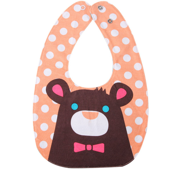 Double Side 4 Layers Waterproof Baby Bibs Cute Cartoon Penguin Bear Rabbit Pattern Baby Watering Feeding Anti Wet Bib Burp Cloth