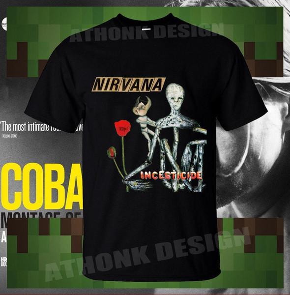 Горячая Нирвана Курт Кобейн INCESTICIDE футболка NWT мужская футболка хлопок мужчины футболки классический топ Tee основные модели футболка