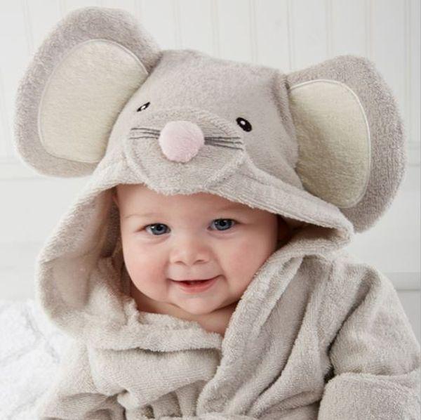 100% cotton baby beach gown infant newborn bear bathrobe beach towels baby cloak cape bath towels hooded bathrobes clothing