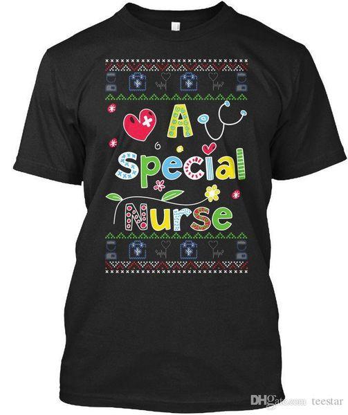 A Special Nurse Ugly Christmas Sweater T-shirt Élégant Tee Shirt Men Top Design Short Sleeve Fashion Custom Plus Size Men's T Shirts