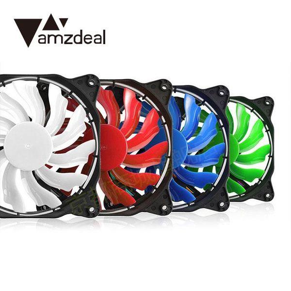 DEL 120 mm ultra silencieux ordinateur PC Case Fan 15 DEL DC 12 V facile installé