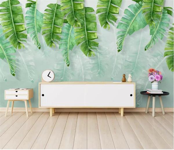 Europe Banana leaf Photo wallpaper for wall 3d Mural wallpaper living room TV background setting Large mural bedroom