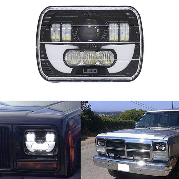 7x6 LED Far HID Işık Ampüller Işın Far DRL Jeep Cherokee XJ Kamyon için 7x6 5x7