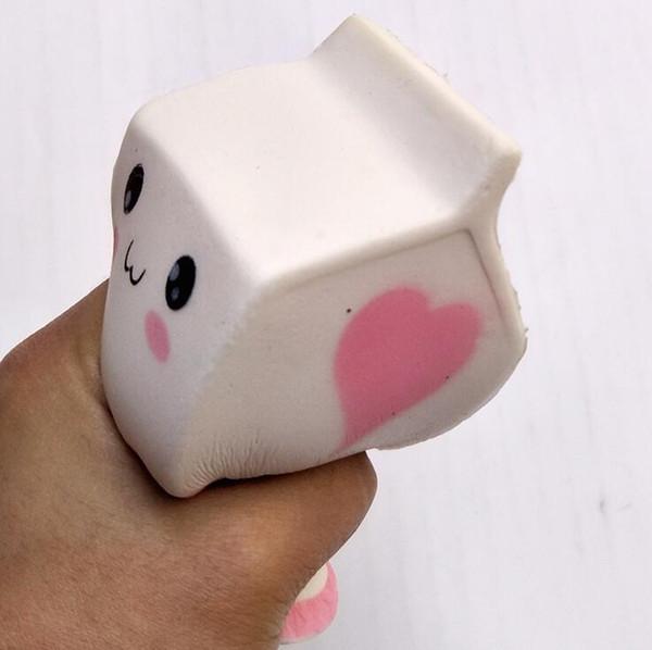 I giocattoli di decompressione di serie del bambino della schiuma del contenitore di latte di simulazione di rimbalzo lento di squishy 12 * 6cm DHL libera il trasporto
