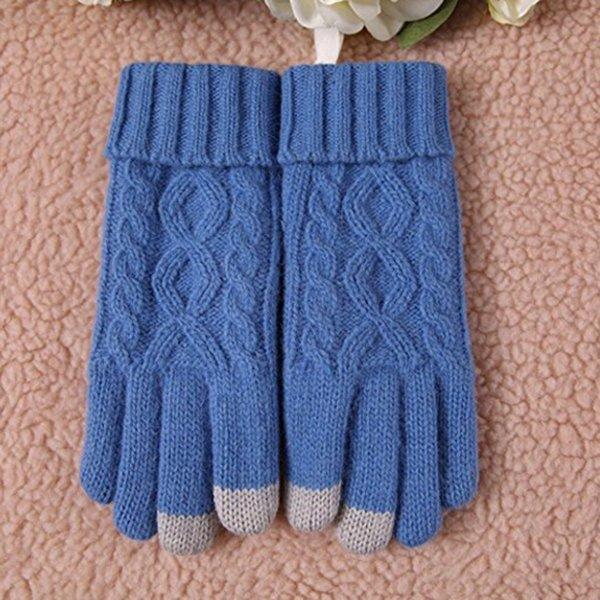 2017 neue Mode Frauen Winter Warme Gemütliche Wolle Stricken Dicken Fleece Gefüttert Handschuhe Miens Für Frauen Necessarity Heißer Verkauf # 30