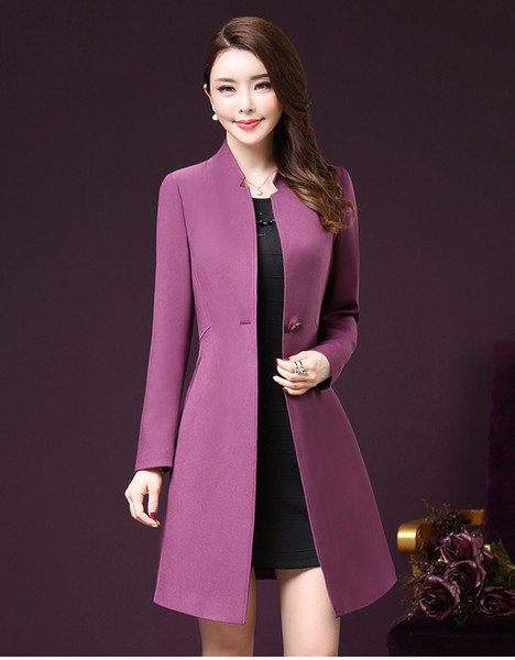 a419f23965d93 korean new women trench coat Promo Codes - Plus Size 5XL Trench Coat For  Women New