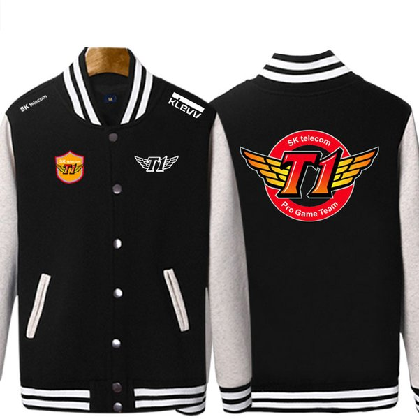 Hoodies Men Winter Skt T1 Fleece Jackets Men Skt Uniform Sweatshirt 2017 Sudadera Hombre Skt1 Survetement Homme Z30