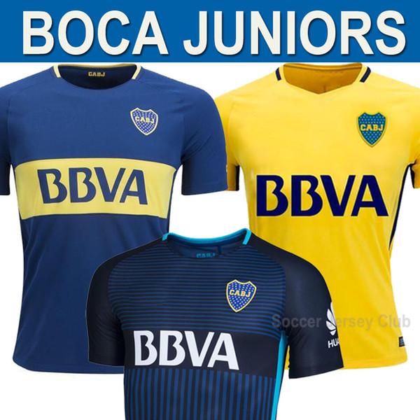brand new 35016 e9585 2019 17/18 Boca Juniors Soccer Jerseys 2017 2018 BENEDETTO GAGO CARLITOS  GAGO Pavon Vadala Cardona Boca HOME Jersey AWAY Yellow Football Shirts From  ...