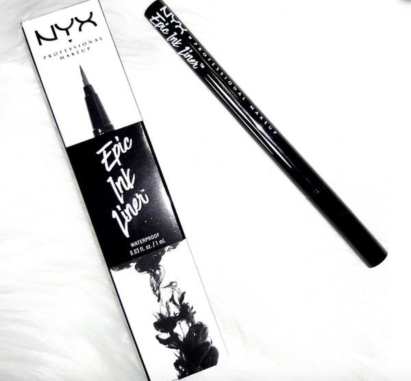 NYX Epic Ink Liner nyx Black Eyeliner Pencil Headed Maquillaje Liquid Color Negro Eye Liner Cosméticos a prueba de agua de larga duración DHL
