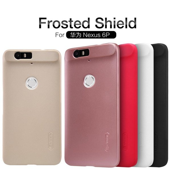 wholesale nexus 6p case Nillkin Super Frosted Shield hard plastic back cover for huawei nexus 6p phone Case with Screen Protector