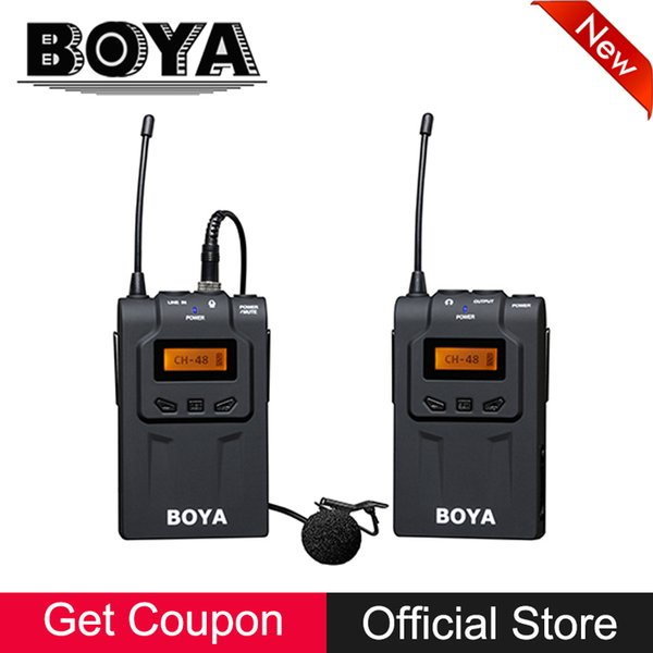 BOYA BY-WM6 UHF Wireless Microphone System for Canon Nikon Sony DSLR Camera Camcorder PC ENG EFP Video Audio Recording Mic Foam