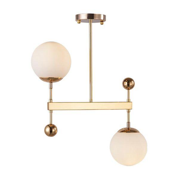 Luces colgantes de cristal moderno Lámpara colgante de hierro nórdico Luminaria de suspensión de metal minimalista E27 Bar restaurante Comedor linternas