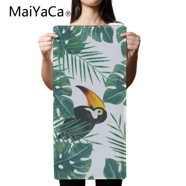 MaiYaCa Tropical Flying Parrot Mouse Pad pad per Mouse Notbook Computer Mousepad Overlock Edge Speed Big Gaming