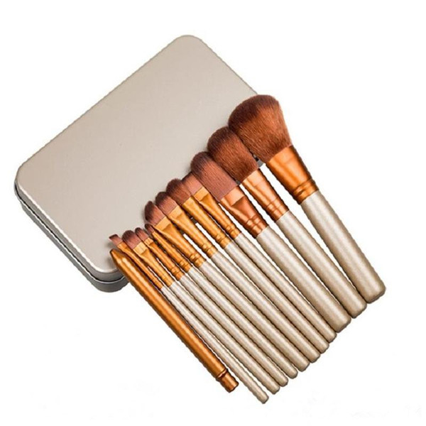 New Hot makeup 12 Pcs/set brush NUDE 3 Makeup Brush kit Sets for eyeshadow blusher Cosmetic Brushes TooL DHL Free Shipping