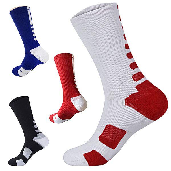 4 Pairs Men's Sport Socks Professional Basketball Elite Socks Thicken Outdoor Athletic Skateboard Running Sports Soccer Sock For Men