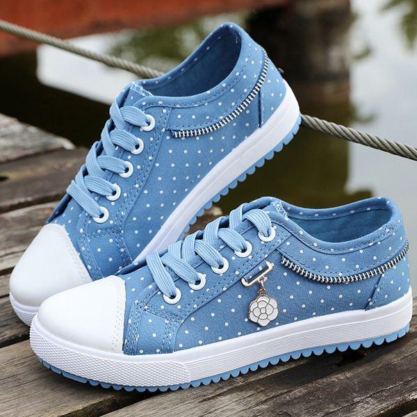 Acheter 2019 Chaussures En Toile Pour Femmes Sneakers Vulcanize Chaussures Pour Filles Chaussures Femme Zapatillas Mujer Plataforma Taille 34 39