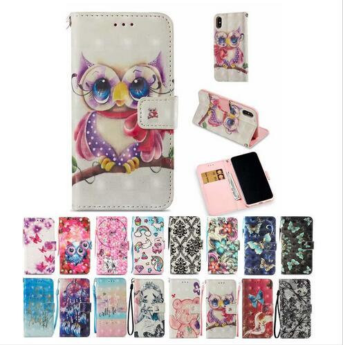 3D Dreamcatcher Butterfly Girl Wallet Flip Stand Leather Case for New iphone 6.1 6.5inch X 8 7 6 6S Plus Samsung S7 S8 S9 Plus Note 9