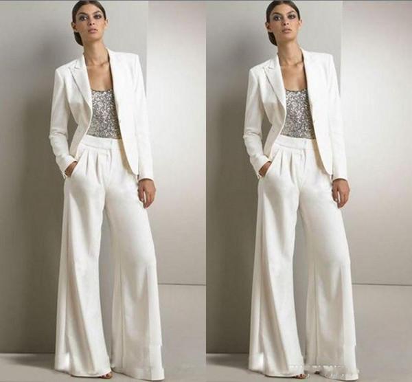 Pantalons de costume costumes mère de la mariée robes 2018 smoking fabriqués sur mesure femmes partie portent nouvelle mode mère de la mariée costumes