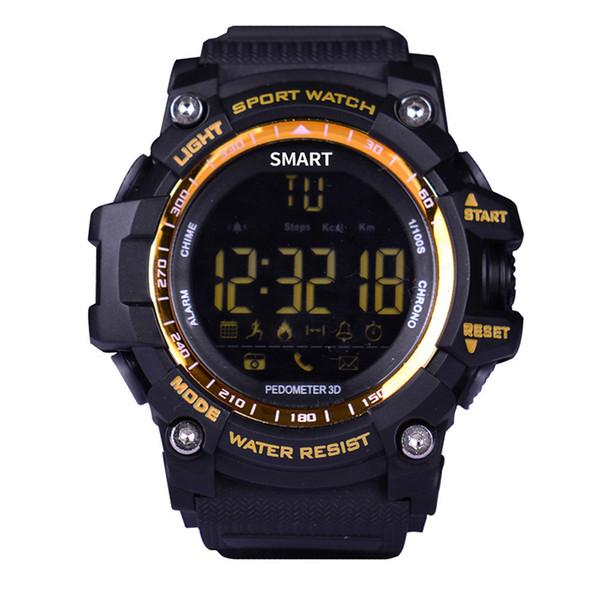 Heiße Bluetooth Uhr EX16 Smart Watch Benachrichtigung Fernbedienung Pedometer Sportuhr IP67 Wasserdichte Herren Armbanduhr Für IOS Android DHL