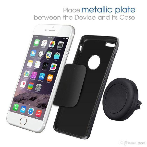 Supporto per auto magnetico montabile, montaggio su auto, presa d'aria per iPhone 6 6s, montaggio monofase, magnete rinforzato, guida più semplice e sicura