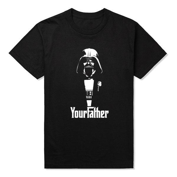 Nouveau Mode Homme Gros Discount Darth Vader Parrain T-shirt Hommes Casual Coton Imprimé À Manches Courtes T-shirt Taille S ~ 2xl