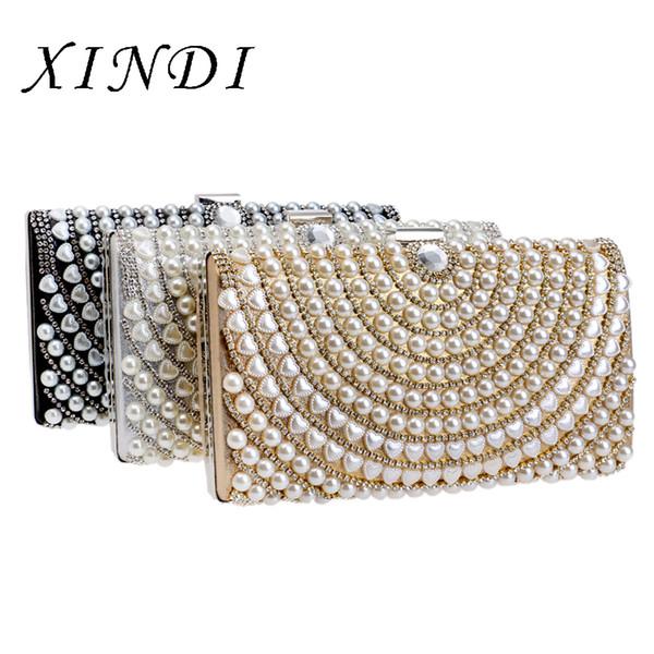 new fashion ladies clutches luxury pearl evening bag crossbody bag designer bags famous brand women bags 2018 ladies handbags