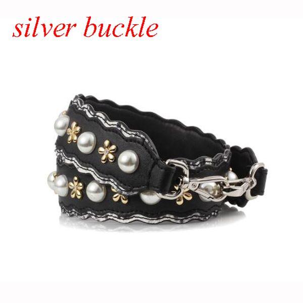 jewel silver buckle