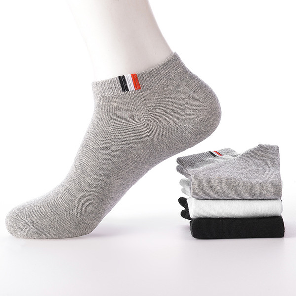 5Pairs /lot men's cotton socks autumn and winter models large size high quality no show boat socks short men's fashion warm sock