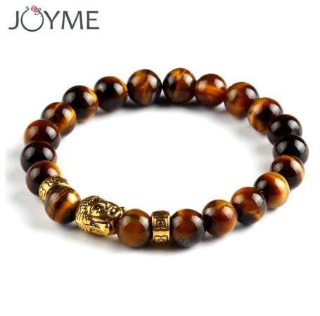 Mens Beaded 8mm Lava Stone Beads Gallstone Buddha Buddhist Bracelets For Women Religious Jewelry Gift