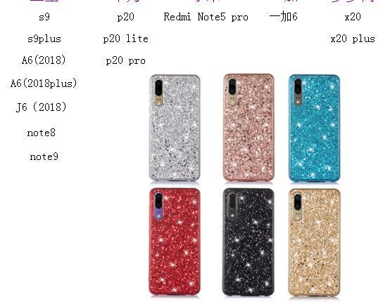aed1768c50 For Huawei P20 Lite Redmi Note 5 Pro One 6 Flake Foil Chromed Soft TPU Case  Confetti Bling Sequin Sparkle Metallic Luxury Phone Cover Skin Protective  ...