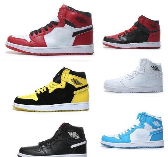 HOT SALE designer shoes 1 OG Top Men Basketball Shoes Chicago 1S Sneakers Mandarin duck Trainers UNC Mens Sport Sneaker Shoes Size 7-13