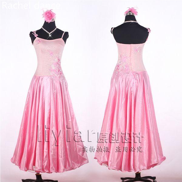 Girls Modern Dance Dress Diamond Embroidered Sequin Customized Sleeveless Performance Suits Ballroom National Standard Waltz Jazz Dance