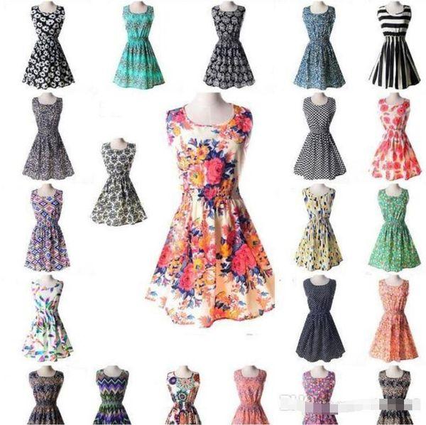 Newest fashion Women Casual Dress Plus Size Cheap China Dress Designs Women Clothing Fashion Sleeveless Summe Dress Free Shipping