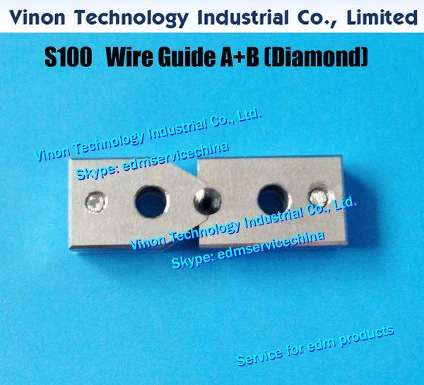 d = 0.305mm S100 edm Guida filo A + B Diamante 3087703, Guida filo spaccato superiore AB 0.305mm 0205529 per AQ, A, serie EPOC J13107A