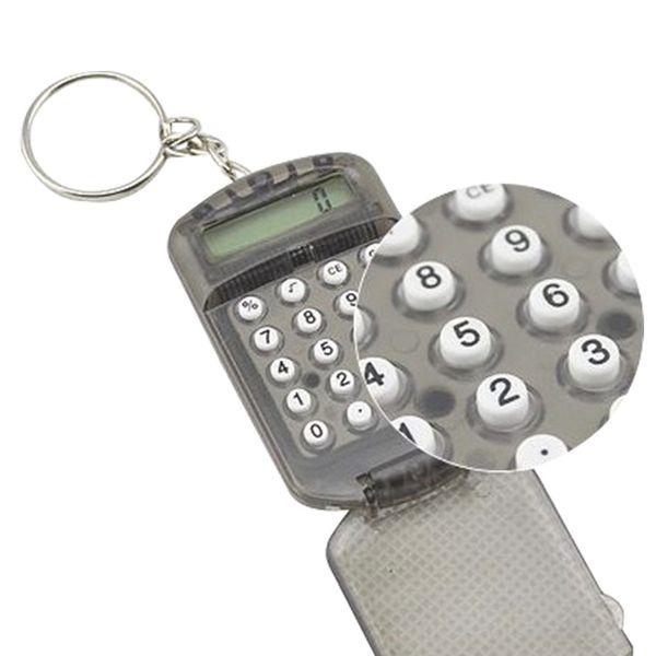 Etmakit новый серый жесткий пластиковый корпус 8 цифр электронный мини-калькулятор с брелок случайный цвет высокое качество