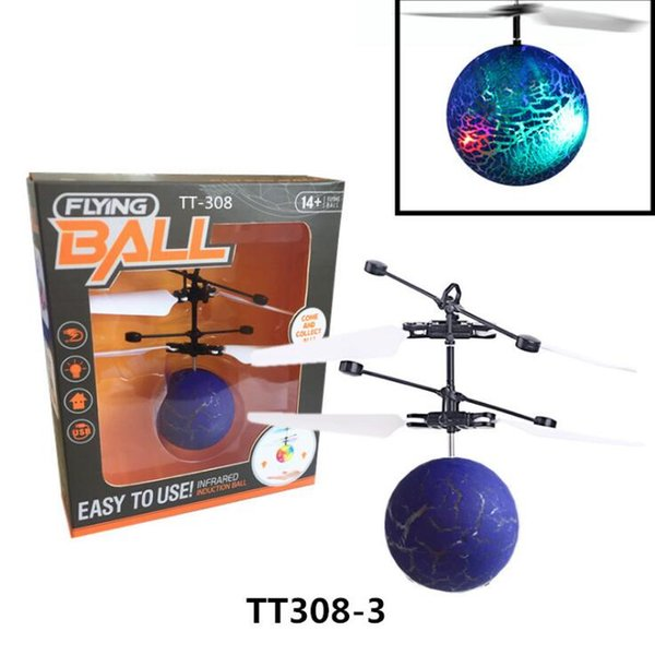 RC Flying Ball Drone Helicopter Ball Built-in Shinning LED Lighting Remote Control Toys LED Light Mini Helicopter for Kids Toys
