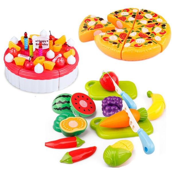 6pcs / set I bambini giocano la casa i giocattoli Gli ortaggi da frutto di plastica tagliano i giocattoli Gioco di ruolo della cucina educativo