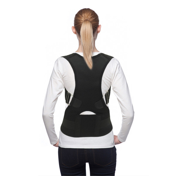Ajustable Magnetic Therapy Posture Corrector Back Belt Back Support Straightener Corrector De Postura Elastic band