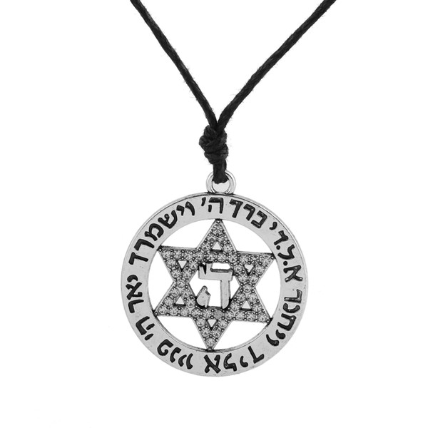 Fishhook Crystal Star of David Nordic Wicca Norse Supernatural Vikings Amulet Charms Unisex's Necklaces for Jewelry Making