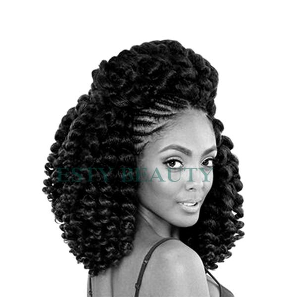 8 '' 85g Jumpy Wand Curl Twist Crochet Tresse Jamaïcain Bounce Synthétique Tressage Cheveux Haute Température Fibre Pourpre Couleur