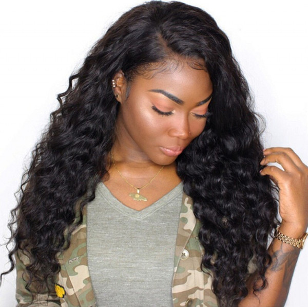 Loose Wave Human Hair Wigs Pre Plucked Full Lace Wigs Brazilian Lace Front Wigs for Black Women Ping
